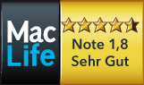 Bewertung Note 1.8 in MacLife 03/2016