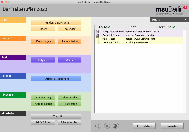 Mac Und Pc Rechnungssoftware Für Freiberufler Und Selbständige