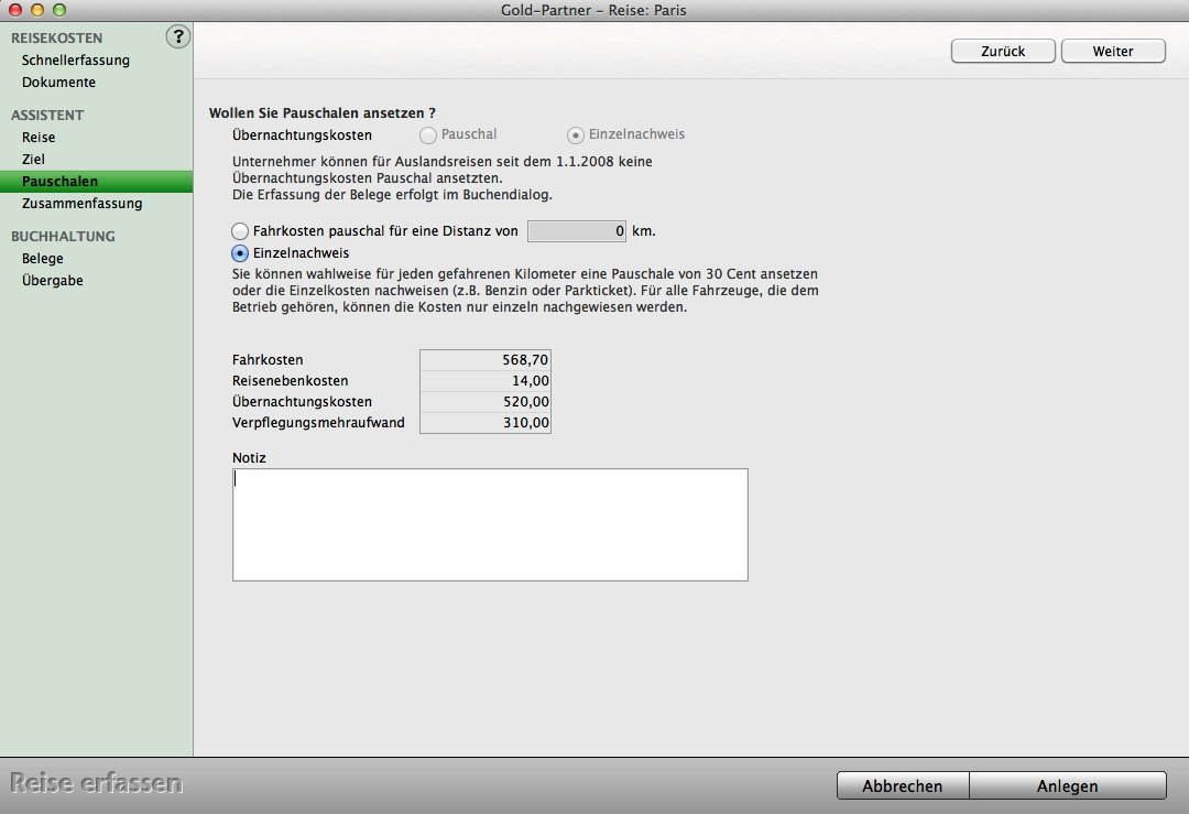 Pauschale Abrechnung : software reisekostenabrechnung mit mac und pc programm ~ Themetempest.com Abrechnung